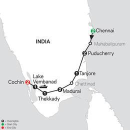 Discover Southern India and Kerala (26402020)
