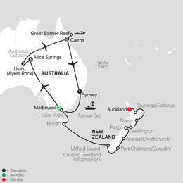 Highlights of Australia with New Zealand Cruise on October 13, 2020 (33522020)