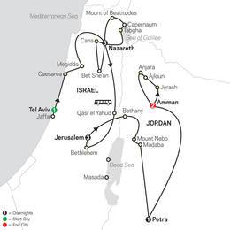 Holy Land Discovery with Jordan FaithBased Travel - Catholic Itinerary (53252020)