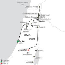 Biblical Israel FaithBased Travel - Protestant Itinerary (53402020)