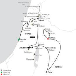 Biblical Israel with Jordan FaithBased Travel - Protestant Itinerary (53452020)