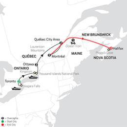 Ontario and French Canada with Ocean Train to Halifax (83342020)