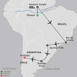 Brazil, Argentina and Chile Unveiled with Brazils Amazon (11022020)