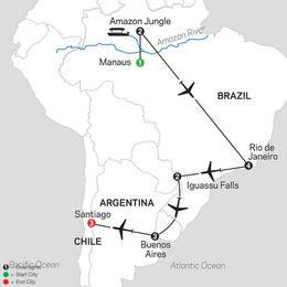 Brazil, Argentina and Chile Unveiled with Brazils Amazon (11022021)
