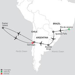 Brazil, Argentina and Chile Unveiled with Easter Island (11062021)