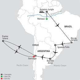 Brazil, Argentina and Chile Unveiled with Brazils Amazon and Easter Island (11092021)