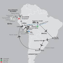 Ultimate South America with Brazils Amazon and Galapagos Cruise (12082020)