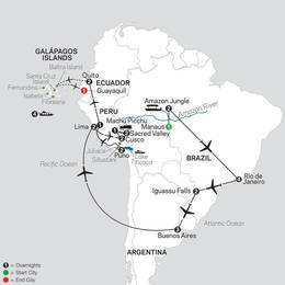 Ultimate South America with Brazils Amazon and Galapagos Cruise (12082022)