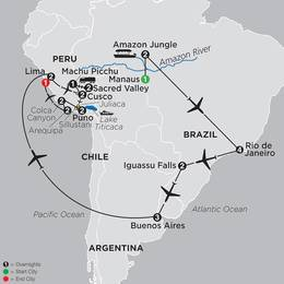 Ultimate South America with Brazils Amazon and Arequipa and Colca Canyon (12092020)