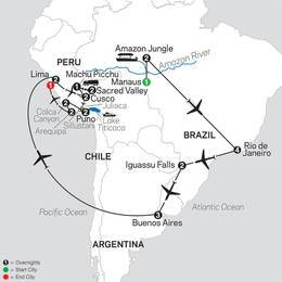 Ultimate South America with Brazils Amazon and Arequipa and Colca Canyon (12092021)