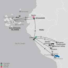 Mysteries of the Inca Empire with Perus Amazon and Galapagos Cruise (13082020)