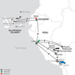 Mysteries of the Inca Empire with Perus Amazon and Galapagos Cruise (13082021)