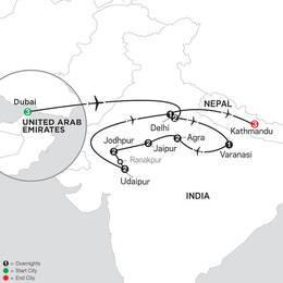 Highlights of Northern India with Dubai and Kathmandu (26692020)