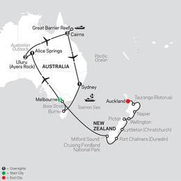 Highlights of Australia with New Zealand Cruise on November 24, 2020 (33532020)