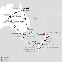 Highlights of Australia with New Zealand Cruise on February 2, 2021 (33592021)