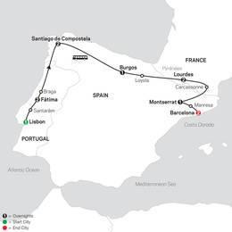 Fátima, Lourdes and Shrines of Spain FaithBased Travel (53102022)