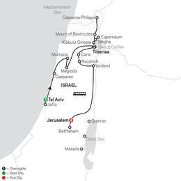 Biblical Israel FaithBased Travel Protestant Itinerary (53402021)