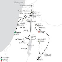 Biblical Israel with Jordan FaithBased Travel  Protestant Itinerary (53452021)
