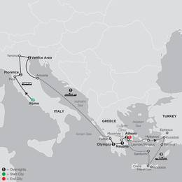 Italy and Greece with Iconic Aegean Islands Cruise in Outside Stateroom (64862020)