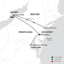 New York City, Niagara Falls and Washington DC (80002022)