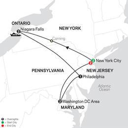 New York, Niagara Falls and Washington DC with Extended Stay in New York City (80022020)