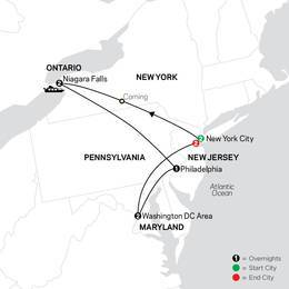 New York City, Niagara Falls and Washington DC with Extended Stay in New York City (80022022)