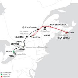 Ontario and French Canada with Ocean Train to Halifax (83342021)