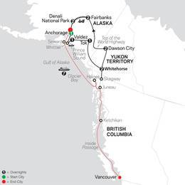 Alaska and the Yukon with Alaska Cruise (83652020)