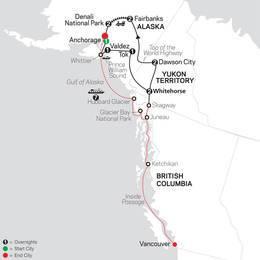 Alaska and the Yukon with Alaska Cruise (83652021)