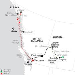 Heart of the Canadian Rockies with Calgary Stampede and Alaska Cruise (85552021)