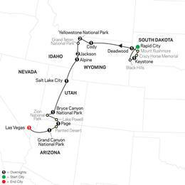 National Parks and Canyon Country with Rapid City start (86052020)
