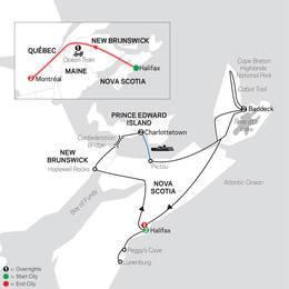 Atlantic Canadas Coastal Wonders with Ocean train to Montreal (88252020)