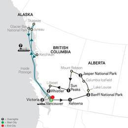 The Canadian Rockies with Alaska Cruise (89042021)