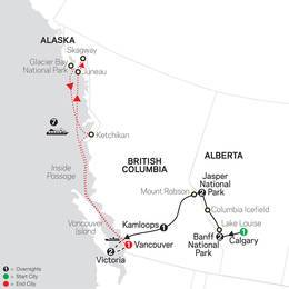 Heart of the Canadian Rockies with Alaska Cruise (89152021)