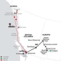 Western Canada by Rail with Alaska Cruise (89342021)