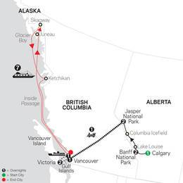 VIA Rail and the Canadian Rockies with Alaska Cruise (89402020)