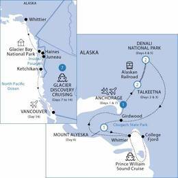 Jewels of Alaska with Glacier Discovery Cruise Ocean View Cabin, Summer 2021