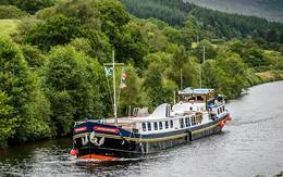 Scottish Highlander Caledonian Canal and Loch Ness