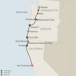 Pacific Coast Adventure with Portland Rose Festival (AQ12020)