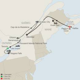 Historic Cities of Eastern Canada with Ocean Train to Halifax (CCE2020)