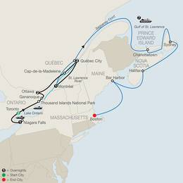 Historic Cities of Eastern Canada with Canada and New England Discovery Cruise (CCI2020)