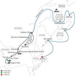 Historic Cities of Eastern Canada with Canada and New England Discovery Cruise (CCI2021)