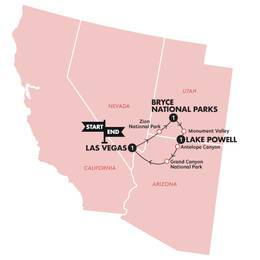 Southwest National Parks(Twin Room,Start Las Vegas, End Las Vegas)