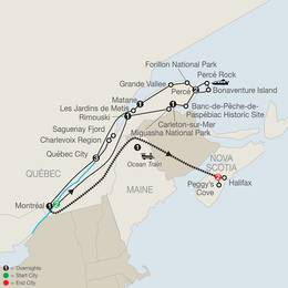 Quebec in Depth with the Gaspe Peninsula and Ocean Train to Halifax (CQE2020)