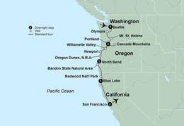 Pacific Northwest & California featuring Washington, Oregon and California