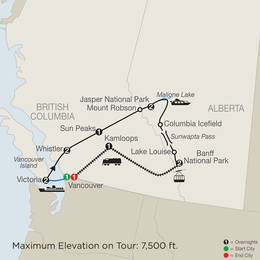 Majestic Rockies with the Rocky Mountaineer (CVE2020)