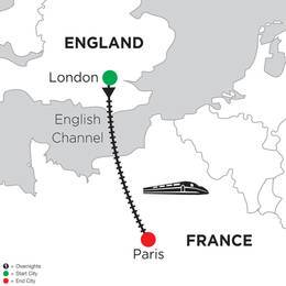 3 Nights London and 5 Nights Paris (DR82020)