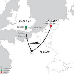 3 Nights London, 3 Nights Paris and 2 Nights Amsterdam (DREI2020)