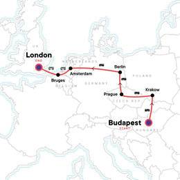 Budapest to London Bike Tours and Belgian Waffles