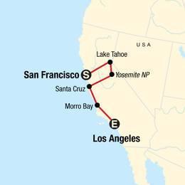 USA Road Trip California Sierras and the Coast